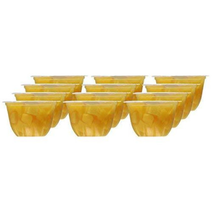 Dole Yellow Cling Diced Peaches - 12 CT- 4oz cups