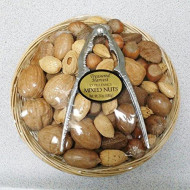 Treasured Harvest Mixed Nuts Gift Basket With Nut Cracker