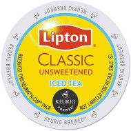 Lipton Classic Iced Unsweetened Tea K-Cup Packs, 18 Count