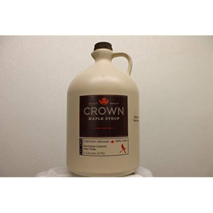 Organic Crown Maple Dark Color - Robust Taste Syrup One Gallon Plastic