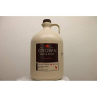 Organic Crown Maple Very Dark Color - Strong Taste Syrup One Gallon Plastic (Formerly Grade B)