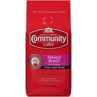 Community Coffee French Roast Extra Dark Premium Ground 12 Oz Bag, Full Body Rich Robust Taste, 100% Select Arabica Coffee Beans