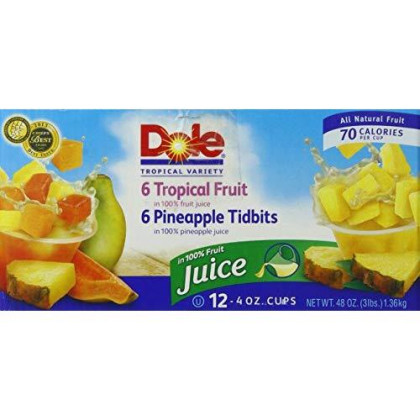 Dole Pineapple and Tropical Fruit Salad, 4 Ounce (Pack of 12)