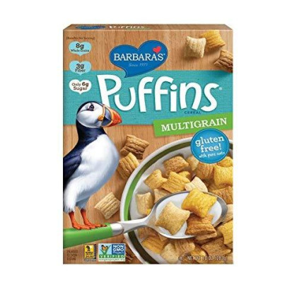 Barbara'S Bakery Puffins Cereal, Gluten Free Multigrain