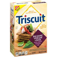 Triscuit Balsamic Vinegar And Basil Crackers, 9 Ounce