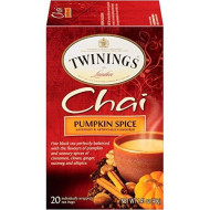 Twinings Of London Pumpkin Spice Chai Tea Bags, 20 Count (Pack Of 6)