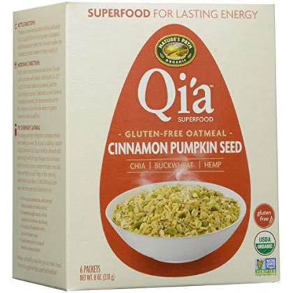 Nature'S Path Qia Superfood Gluten-Free Oatmeal - Cinnamon Pumpkin Seed (6 Packets / Box)