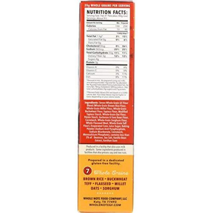 Whole Note 7-Whole-Grain, Non-Dairy Pancake Mix, Naturally Gluten-Free (Pack Of 3)