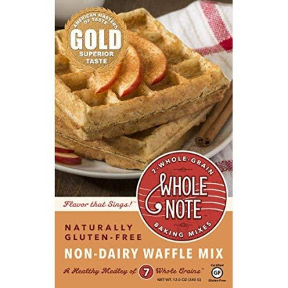Whole Note 7-Whole-Grain, Non-Dairy Waffle Mix, Naturally Gluten-Free (Pack Of 3)