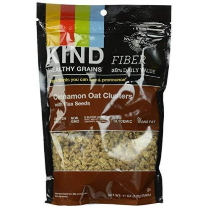 Kind Healthy Grains Clusters, Cinnamon Oat Clusters With Flax Seeds Granola, Gluten Free, Non Gmo, 11 Ounce Bags