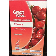 Great Value Sugar Free, Low Calorie Cherry Drink Mix (Pack Of 6)