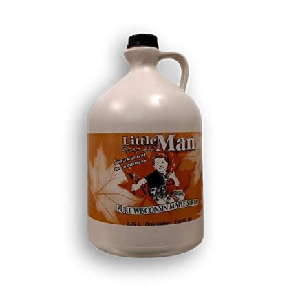 Little Man Syrup 100% Pure Wisconsin Maple Syrup Grade A Medium Amber Gallon (128Oz)