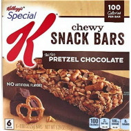 Kellogg'S, Special K, 100 Calorie Chewy Snack Bars, 6 Count (0.88Oz), 5.8Oz Box (Pack Of 4) (Choose Flavors Below) (Salted Pretzel Chocolate)