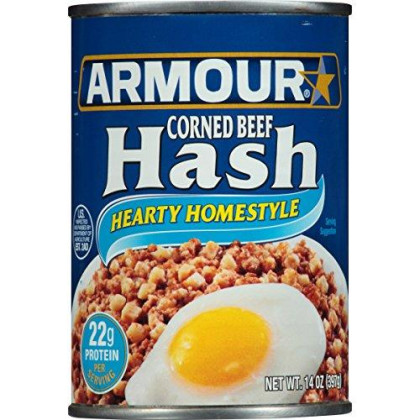 Armour Hearty Homestyle Corned Beef Hash, 14 Ounce (Pack of 12)