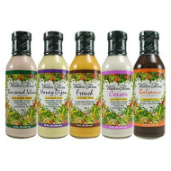 Walden Farms Salad Dressing - Thousand Island-Honey Dijon- French- Caesar- Balsamic Vinaigrette - Calorie Free, Fat Free, Gluten Free, Sugar Free - Variety Pack 5X12 Fl Oz