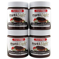 Nutilight Hazelnut & Dark Chocolate Spread 11 Ounces (Pack Of 4)