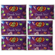 Thank You Assorted Flavors Jelly Beans 1 Oz. Bag - 30-Count Case