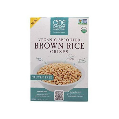 One Degree Organic Foods Sprouted Brown Rice Crisps Cereal(Pack Of 2)