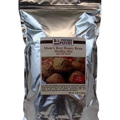 The Prepared Pantry Mom'S Best Honey Bran Just-Add-Water Muffin Mix, Large, 48 Ounce