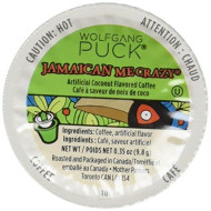Wolfgang Puck Jamaican Me Crazy K-Cup Coffee, 96 Count Case, Compatible With All Keurig K-Cup brevers, Including Keurig 2.0