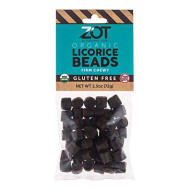 ZOT Firm-Chewy Licorice Beads, 2.5 Ounce (Pack of 10)