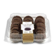 Our Specialty Sweet Middles, Peanut And Tree Nut Free, Mini Cream Filled Sandwich Cookies, Chocolate Souffle, 24 Cookies