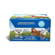 Organic Valley, Organic Milk Boxes, 1% Lowfat Milk, Plain, 6.75 Oz (Pack Of 24)
