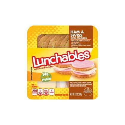 Oscar Mayer Lunchables Ham & Swiss Cheese With Crackers 3.2 Oz Pack Of 5