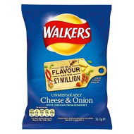 Walkers Crisps - Cheese & Onion (32.5G) - Pack Of 6