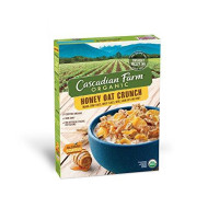 Cascadian Farm Organic Honey Oat Crunch Cereal 13.5 Oz Box