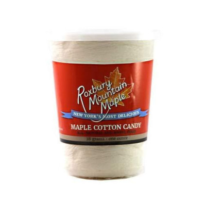 Four Canisters Of Maple Cotton Candy Made With Grade A Golden Maple Syrup -- Great For Parties And Gifts!