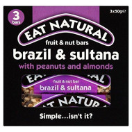 Eat Natural Brazils, Sultanas, Almonds & Hazelnuts Bars (3X50G) - Pack Of 6