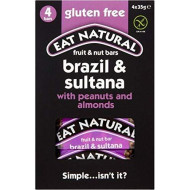 Eat Natural Gluten Free Bars Brazils Sultanas Almonds Peanuts And Hazelnuts (4X35G) - Pack Of 6