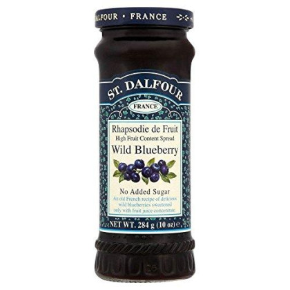 St. Dalfour Wild Blueberry Jam Spread No Added Sugar (284G) - Pack Of 6