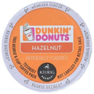 Dunkin Donuts Hazelnut Flavored Coffee K-Cups For Keurig K Cup brevers, 32 Count (Packaging May Vary)
