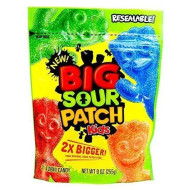 SOUR PATCH BIG SOUR PATCH KIDS 2X BIGGER SOFT & CHEWY CANDY 9 oz / 255g Resealable bag by Sour Patch
