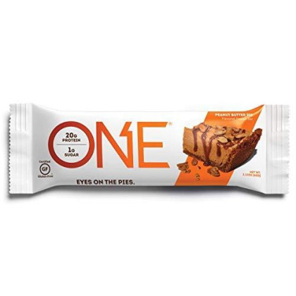 One Protein Bar, Peanut Butter Pie, 2.12 Oz. (12 Pack), Gluten-Free Protein Bar With High Protein (20G) And Low Sugar (1G), Guilt Free Snacking For Healthy Diets