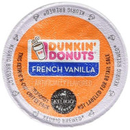 Dunkin Donuts French Vanilla Flavored Coffee K-Cups For Keurig K Cup brevers - 32 Pack (Packaging May Vary)