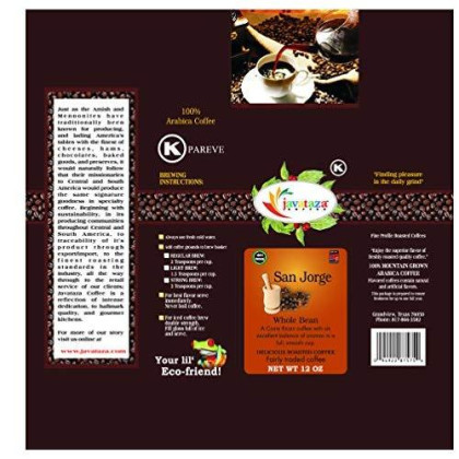 Breakfast Blend Whole Bean Coffee 12 Oz. - Fairly Traded, Naturally Shade Grown