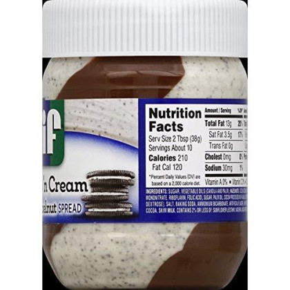 Jif Cookies And Cream Flavored Hazelnut Spread, 13 Ounce