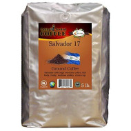 Salvador 17 Ground Coffee 5Lb. - Fairly Traded, Naturally Shade Grown