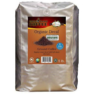 Organic Decaf Ground Coffee 5Lb. - Fairly Traded, Naturally Shade Grown