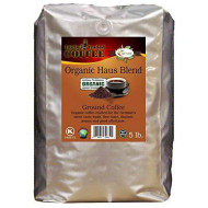 Organic Haus Blend Ground Coffee 5Lb - Fairly Traded, Naturally Shade Grown