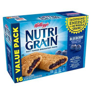 Kellogg'S Nutri-Grain, Soft Baked Breakfast Bars, Blueberry, Made With Whole Grain, Value Pack, 20.8 Oz (16 Count)