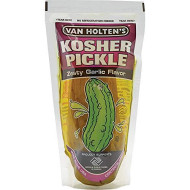 Van Holten'S - Pickle-In-A-Pouch Jumbo Kosher Garlic Pickles - 12 Pack