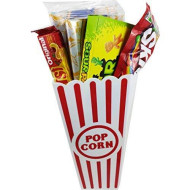 Movie Night Popcorn And Candy Gift Basket ~ Includes Movie Theater Butter Popcorn And Concession Stand Candy (Sour Patch Kids)