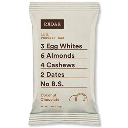 Rxbar Whole Food Protein Bar, Coconut Chocolate, 1.83Oz Bars, 12 Count