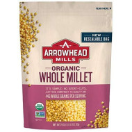 Arrowhead Mills Organic Whole Millet, 28 oz. Bag (Pack of 6)