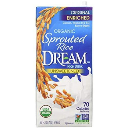 Sprouted Rice Dream Enriched Original Unsweetened Organic Rice Drink, 32 Fl. Oz. (Pack Of 6)