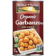 Westbrae Natural Organic Beans, Garbanzo, 25 Ounce (Pack of 12)